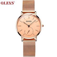 OLEVS, женские часы, модные, розовое золото, часы, Роскошные, водонепроницаемые, Бизнес Стиль, наручные часы, супер светильник, уютное назначени...(Китай)