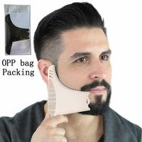 Transparent Men's Beard Shaping Styling Template Tool Trimming Grooming Guide