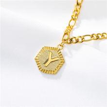 A to Z шестигранные алфавитные браслеты на ногу для женщин, ювелирные изделия для ног, золотая цепочка для ног, подарки для дружбы, начальный н...(Китай)