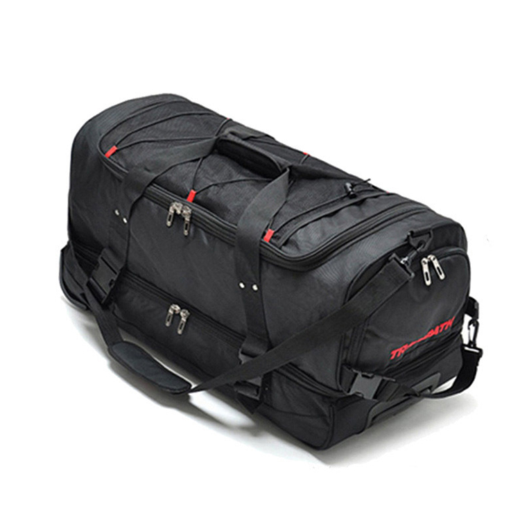 Newest Travel Duffel Trolley Sport Bag Lining Large Wheel, Travel Bag With Wheel For Woman