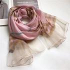 2020 New Style Women Spring Summer Fashion Lattice Viscose Silk Scarf Shawl for Wholesale