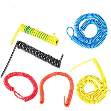 Low Voltage Flexible Retractable Spiral Spring Coiled Cable coiled cable spring power cable
