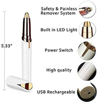 Rechargeable Portable Lipstick Mini Electric Epilator Hair Removal eyebrow & facial hair trimmer