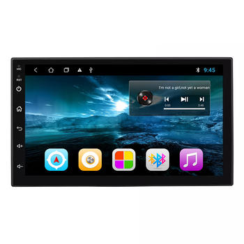 7 Inch Android 9.0 Double Din High Resolution Touch Screen Double Din Car MP5 Player 1+16 GB