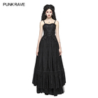 wq-421 2019 Gothic Tube top Long Lace Sexy Party Dress Women Evening Dress