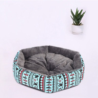 Wholesale creative canvas hexagonal kennel arctic cashmere cat litter pet supplies comfortable dog bed removable and washable