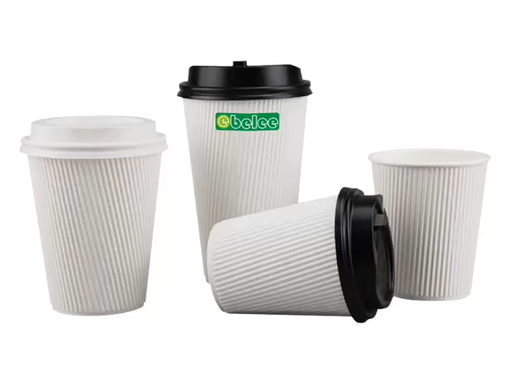 High Quality Hard Ripple Paper Cup Printed Design Logo