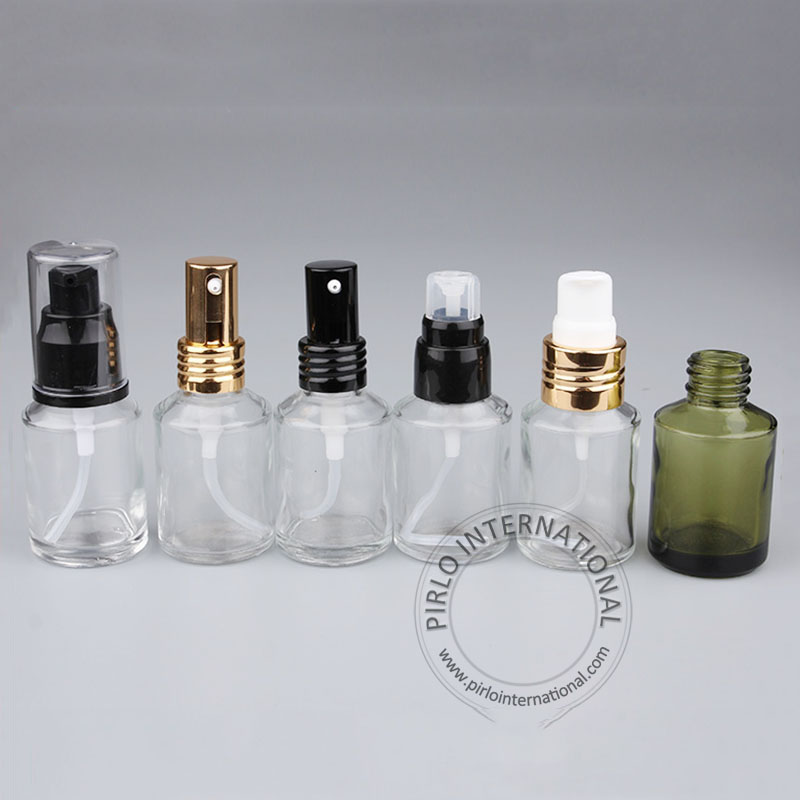 1oz 30ml New Design Clear Frosted Amber Glass Essential Oil Bottle