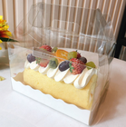 Customizable Disposable Clear Plastic Swiss Roll Cake Box