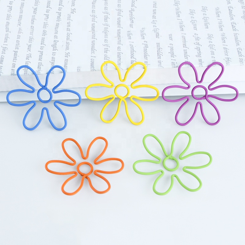 ShenZhen Stargood factory fast delivery different colors cloverleaf stationery metal paper clip
