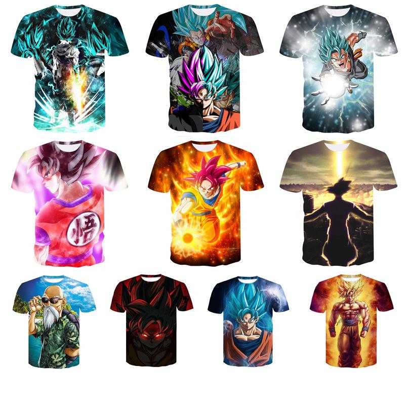 95% Polyester Dragon Ball Series Tshirt Custom Print Sublimation  Oem