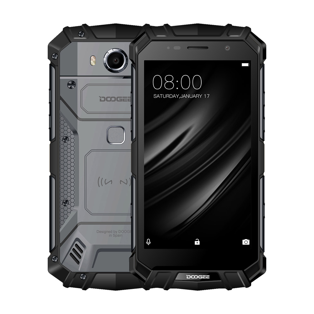 Doogee S60 Lite Smartphone IP68 Waterproof 5580mAh 12V/2A Wireless Charge 5.2&quot; FHD 4GB+32GB Glonass NFC Touch ID 4G <strong>Lte</strong>