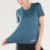Blue Breathable Round Neck Short Sleeves Yoga Wear Sport Top Women