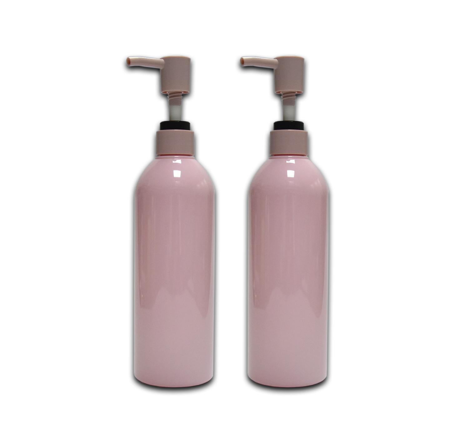 500 مللي فندق الوردي لطيف مخصص البلاستيك شامبو للحيوانات الأليفة زجاجة كريم للجسم غسول