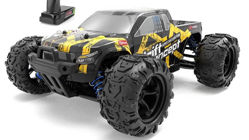 9300E 1:18 r c mainan kecepatan tinggi pickup truk rakasa tahan air 40km/jam listrik kendaraan remote control mobil drift crawler rc