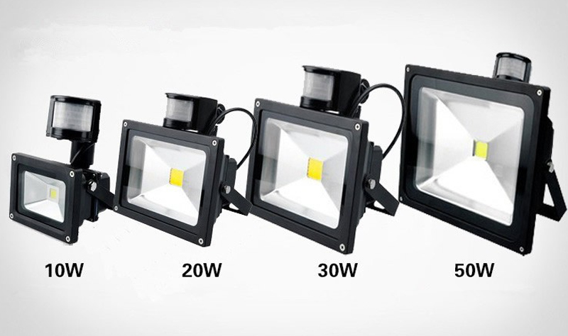 Solar Powered LED Floodlight PIR Sensor Wall Flood Lights Security Solar Spotlights Motion Sensor COB LED Floodlight Garden Park