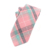 Fashion Mens Wedding Pink Ties Cotton Checked Design Neck Tie