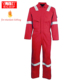 Hi vis industrial fireproof and fire resistant insulated flame retardant coveralls