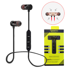 M5 Magnetik Neckband Nirkabel Earphone In Ear Headphone True Stereo Headset Sport Earbud dengan MIC untuk iPhone Xiaomi
