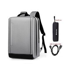 Мужской рюкзак 15,6 дюйма, рюкзаки для ноутбука, бизнес, ноутбук, Mochila, водонепроницаемый рюкзак, USB зарядка, дорожные сумки, Студенческая сумка(Китай)