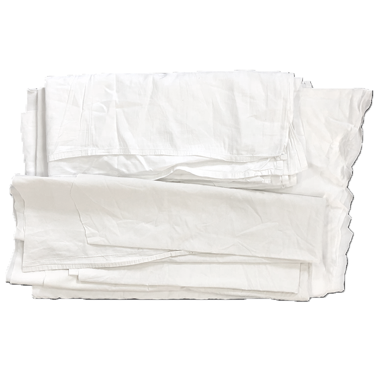 100% cotton bulk used white bed sheets textile waste rags