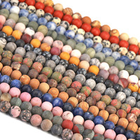 Hot Selling Gemstone Beads Frosted Stone Beads For Elastic Stretch Bracelets