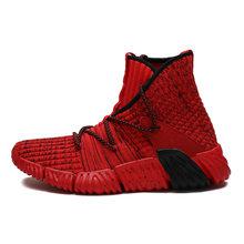 Мужские ботинки для баскетбола с высоким берцем, светильник, кроссовки, противоскользящая дышащая амортизирующая Мужская Спортивная обувь...(Китай)