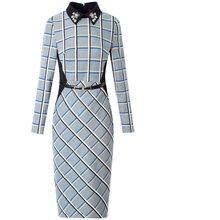 Весна 2020 Новое Роскошное дизайнерское вечернее платье для женщин знаменитостей стиль офисное женское платье размера плюс узкие Рабочие Ру...(Китай)