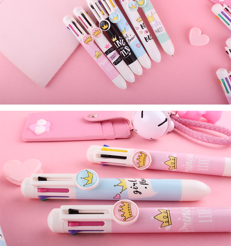 8 in 1 refills crown kawaii Ballpoint Pens for girl gift