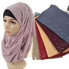 Fashion Print Cotton Crinkle Women Muslim Hijab Scarf And Shawls