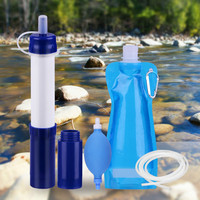 Personal Water Filter straw Water Cartridge Portable Water Filters for Camping Hiking or Survival Backpacking