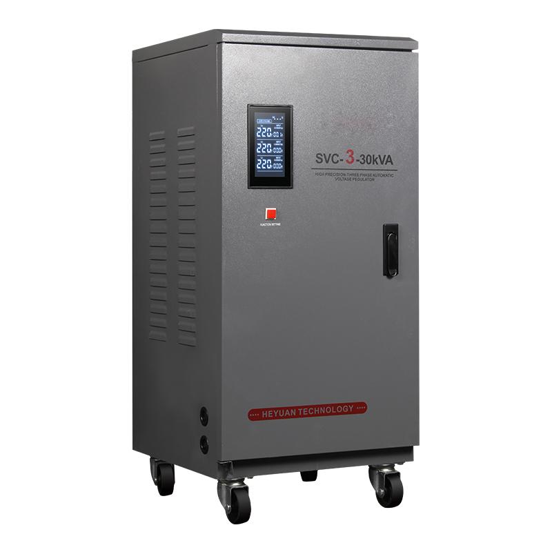 3 Phase Servo Regulator 30kva Generator AVR Automatic Voltage Regulator dengan Input 240 V untuk 450 V Servo Motor Tegangan stabilizer