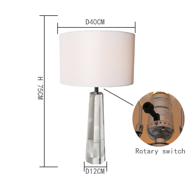K9 crystal table lamp house sitting room adornment bedroom the head of a bed lamp furnishing articles