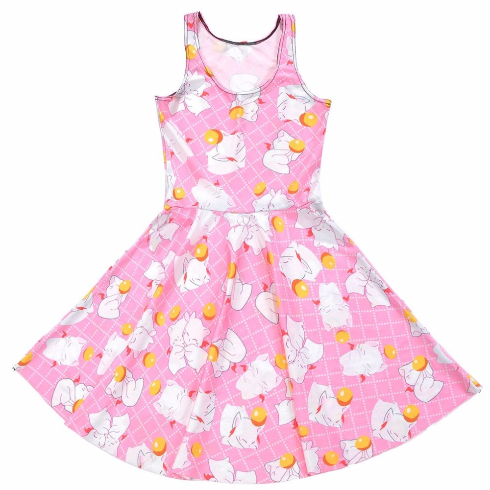 Girls dress sexy Fashion Hot Women Dress Print Cute animal Summer Sleeveless dress