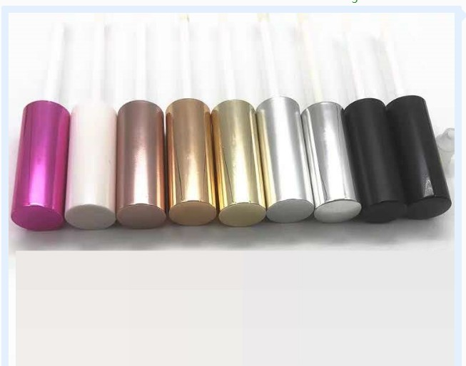 Whosale 10ml colorful transparent empty plastic container liquid eyeliner lip gloss tube