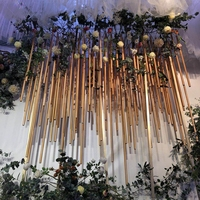 LDJ1126 flexional gold wedding decoration PVC tube for stage decoration