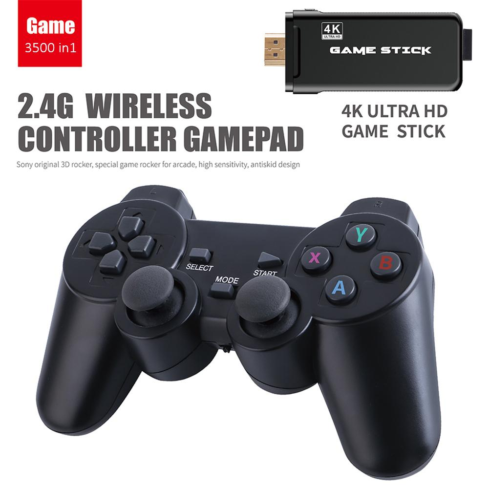 Game Stick 4K Ultra HD TV Video Game Dongle PS1 Emulators Double 2.4G Wireless Gamepad Controller 3D Game Console Game Stick 4K Ultra HD TV Video Game Dongle PS1 Emulators Double 2.4G Wireless Gamepad Controller 3D Game Console