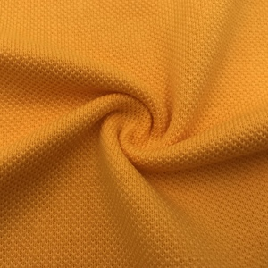 32S CVC 60% C 40% T Double Yarn 240GSM Pique Knitted Fabric For Garment