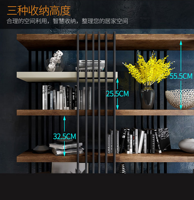 Hot sale high quality book shelf wooden shelf for home hotel office