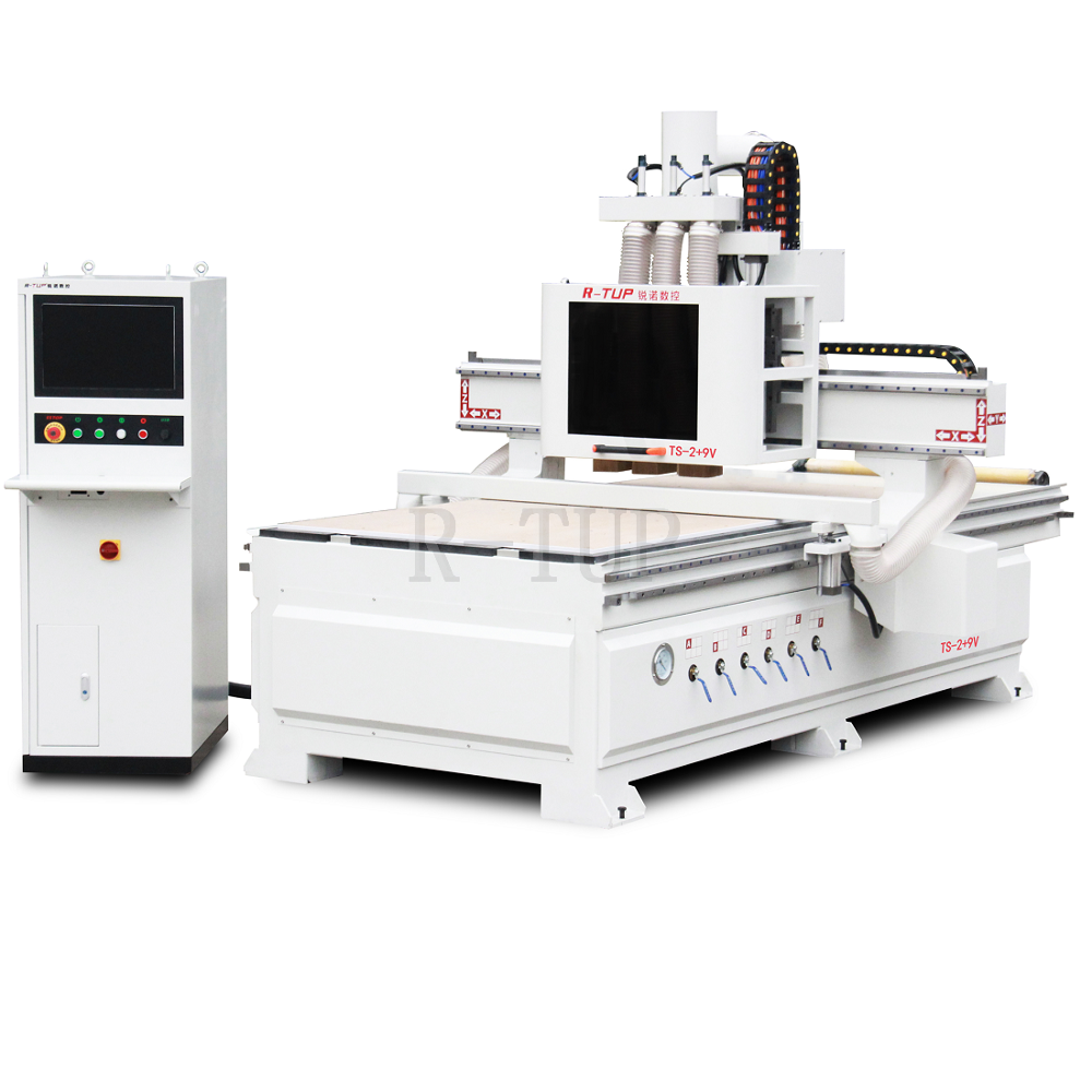 TS-2 + 9V NC studio controlesysteem gemak bedienen cnc machine router center met 6kw spindel
