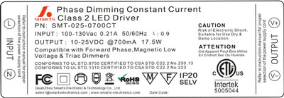 700ma 17.5w dimming led power supply led driver
