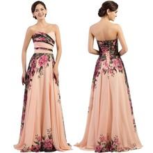 Женское длинное платье с цветочным принтом JaneVini, короткое вечернее платье подружки невесты для свадебной вечеринки, vestido largo fiesta barato 2020(Китай)