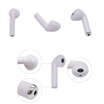 Single Wireless i7 Mini in-Ear Bluetooth Earbud Earphone Built-in Mic Stereo Headset Dual Noise Reduction for IOS and Android