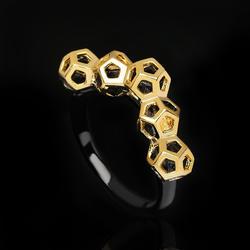 Elegant jewelry KYRA01386 black gun plated hollow