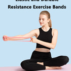 Perfect Legs Set Of 5 Elastic Fitness Bands Perfect For Legs And Butt Yoga Strength Training Pilates