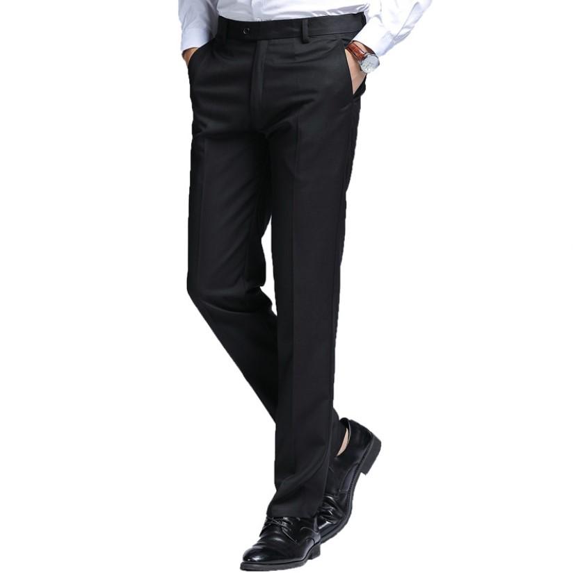 Pantalones De Los Hombres De Negocios Negro Pantalones De Traje De Corte Slim Recto Casual Vestido Pantalones Buy Pantalones De Los Hombres Pantalones De Vestir Product On Alibaba Com