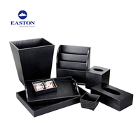 Hotel black wooden rectangle tissue box