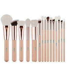 BEILI rose gold brush set concealer <span class=keywords><strong>poeder</strong></span> make up borstel natuurlijke hair makeup tools Roze beige Pony hair brush make set 12