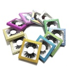 100% real 25mm mink eyelash, 25mm eyelashes with own brand name