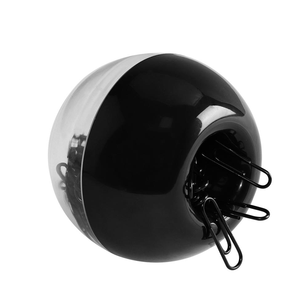 desk storage acrylic transparent black magnetic clip holder with 100pcs paperclip